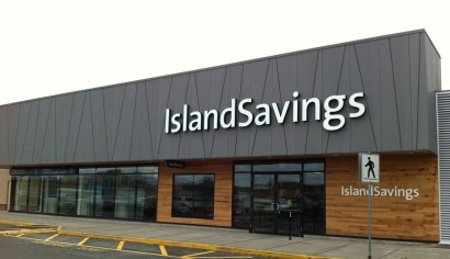 On this Norson Construction project we assisted the architect in the design of the fascia for the Island Savings Flagship Branch in Duncan.  The product used was Zinc Composite Panels supplied by Vicwest.