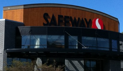 On this Omicron Construction Management project we installed Wood Grain High Pressure Laminate on the upper feature wall at the entrance to the Safeway on Foul Bay in Victoria.